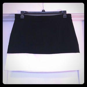 Black and cream short skirt